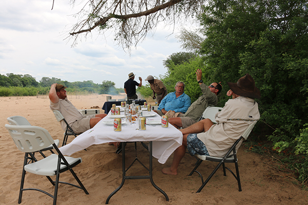 Zambezi Lunch on the Beach